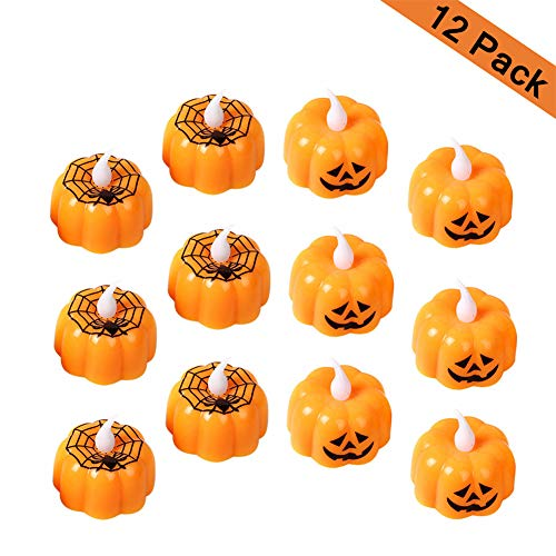 Ayutoy (12 pack) zucca lamp luce di notte di atmosfera delle lanterne lampada pumpkins della candela di halloween