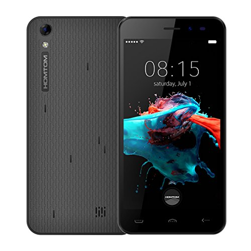 Homtom HT16 - Smartphone Libre 3G de 5.0'' HD (Android 6.0, Dual SIM, MT6580, Quad Core, 8Gb ROM+1Gb RAM, 1.3GHz,...