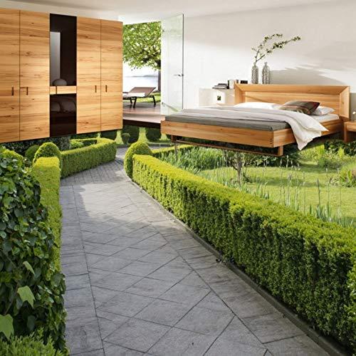 Mbwlkj 3D Stereo Pflanzen Floral Green Garden Aisle Einkaufszentrum Bodenbelag Wandbild Tapete Straße Selbstklebende Aufkleber-350cmx245cm -