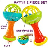 #5: Babytintin Colorful Flexible Attractive Non Toxic Rattle Set for Babies,Toddlers,Infants,Child (3369)