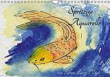 Spritzige Aquarelle von Sabine Lange-Vogel (Wandkalender 2019 DIN A4 quer): Lebendige Aquarelle, modern aufgemacht. (Monatskalender, 14 Seiten ) (CALVENDO Kunst)