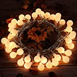 Dailyart Globe String Lights Battery Powered 40 LED Fairy String Lights, 8 Modes, Waterproof Decorative Light - Warm White