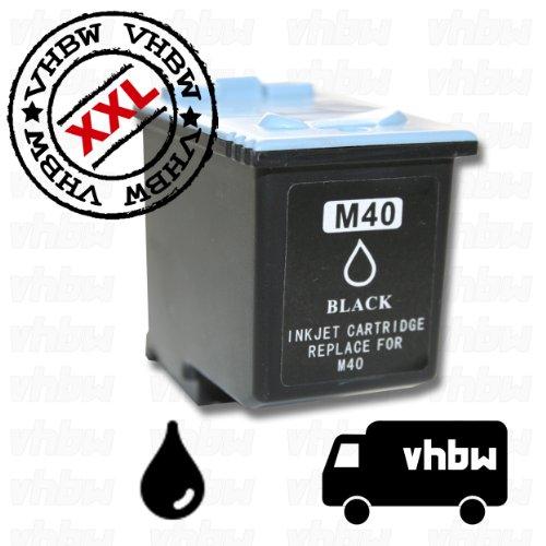 vhbw Cartucho de tinta color negro, recambio de INK-M40, Para usar con las siguientes maquinas de...