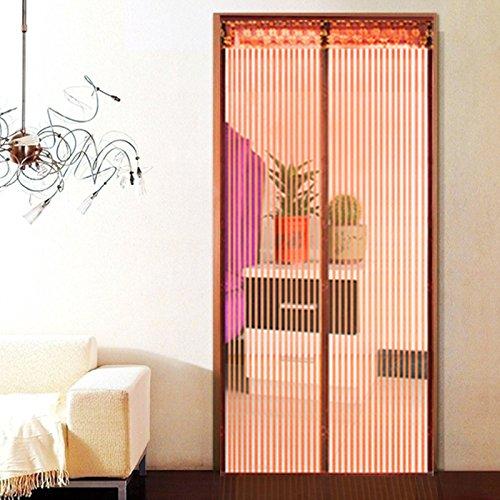 rugai-ue Mosquito Vorhang Fenster Bildschirm Vorhang Haushalt Partition Verschlüsselung leise Sommer Küche magnetisch Weiche Bildschirm Tür Vorhang, braun (Schiebetür-screen-ersatz)