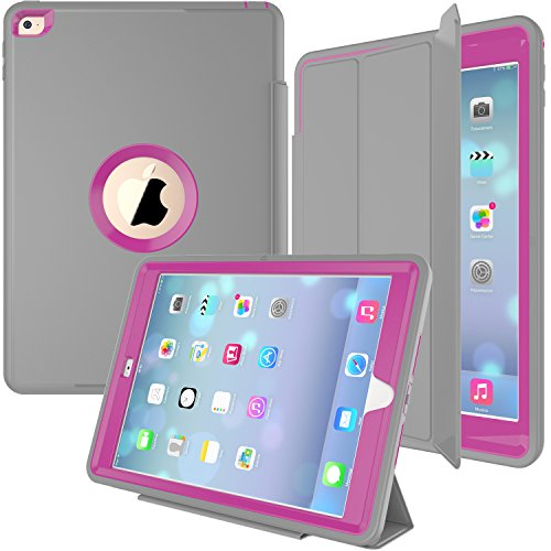 IPad Air 2 Fall, Smart Case HEAVY DUTY X TREME Schutz / Rugged Slim Dual Layer Schutzhülle mit Standing 3 in 1 für iPad Air 2 (2014-2016) - hellblau