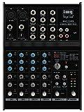 IMG Stageline MMX-22UFX  4-Kanal-Audio-Mischpult (6 Eingängen, DSP-Effekteinheit, USB-Schnittstelle), schwarz