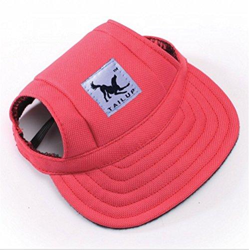 t Dog Sports Baseball GAP Oxford Stoff Verstellbar Outdoor Walking Hat mit Ohrenaussparung für kleine Hunde Pet Visier Hat (Cute Boston Terrier Kostüme)