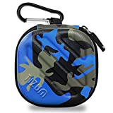#5: TIZUM Earphone Carrying Case - Multi Purpose Pocket Storage Travel Organizer for Earphone, Pen Drives, Memory Card, Cable (Camouflage Blue)