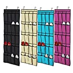 LEOFANS 20 Pockets Door Hanging Shoe Organiser Storage Rack Bag Box Wardrobe Hook
