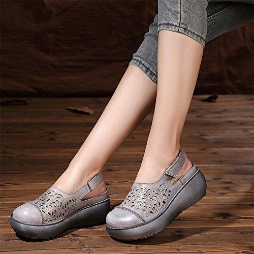 Sommer atmungsaktive dicke Sandalen Dame Sandalen Pantoffeln beiläufige große Schuhe 1