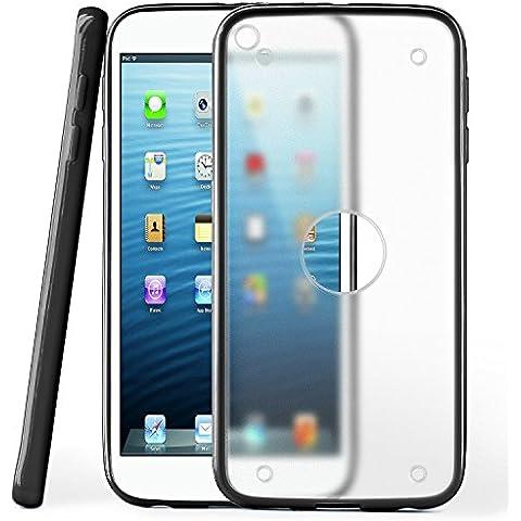 Funda protectora OneFlow para funda iPad Mini Carcasa silicona TPU 1,5mm | Accesorios cubierta protección móvil | Funda móvil paragolpes bolso traslúcida transparente en Deep-Black
