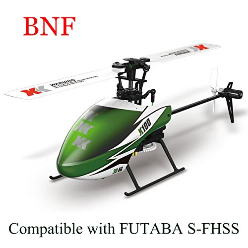 Bluelover XK K100 Falcom 6CH Flybarless 3D6G sistema RC elicottero BNF