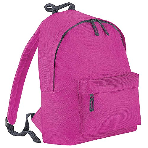 Bagbase Junior Fashion Rucksack, 14 Liter Fuchsia/Graphite Grey