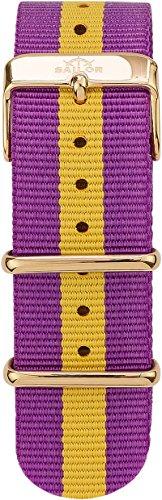 Sailor Damen Herren Nylon Armband Port Antonio lila-gelb BSL101-2003-20, Breite Armband:20mm (normal