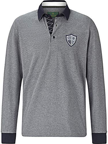 Charles Colby Herren Sweatshirt Connor (Rugby-Shirt, Longsleeve) grau 3XL (XXXL) - 64/66 - 66 Rugby