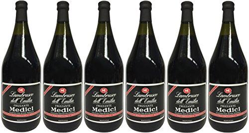 Lambrusco rosso Dell`Emilia IGT MEDICI (6 X 1,50 L) - Vino Frizzante - Roter Süßer Perlwein