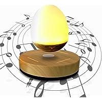 Kirin Levitating Speaker con Grana del legno base della lampadina LED portatile senza fili Bluetooth Maglev galleggiante della luce di notte dell'altoparlante LED