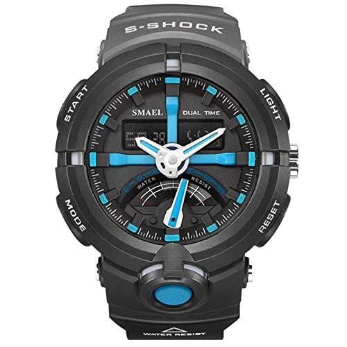 Blisfille Armbanduhren Herren Wasserdicht LED Militärisch Herrenuhr Tarnung Multifunktional Blau Outdoor Sportuhr Armbanduhr Automatikuhr