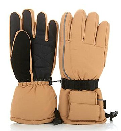 Hot Headz Battery-Operated Heated Gloves - Tan