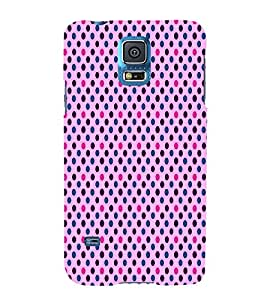 Rich Royal Dots 3D Hard Polycarbonate Designer Back Case Cover for Samsung Galaxy S5 G900i :: Samsung Galaxy S5 i9600 :: Samsung Galaxy S5 G900F