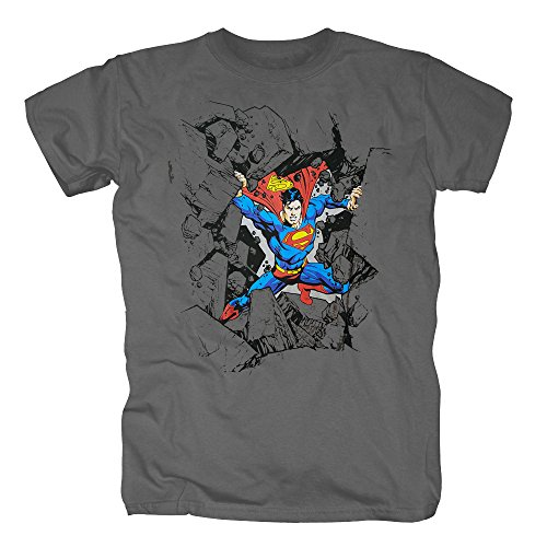 TSP Superman Smash Rocks T-Shirt Herren S (Rock Kostüm Hund Star)