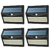 Solarleuchte für Außen, XJLED 108LED Solarlampen für Außen mit Bewegungsmelder,2000mAh Solar Aussenleuchte Solarlicht mit 3 Modi für Gartenzaun-Patio-Garage [4-Stück]