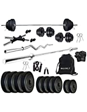 Star X 20 Kg Home Gym Exercise Set with Rods and Accessorie