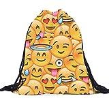 Bolsas de Cuerdas, Emoji Mochilas Unisex de Impresion 3D Bags Drawstring Backpack By VENMO