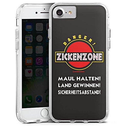 Apple iPhone 6s Bumper Hülle Bumper Case Glitzer Hülle Zickenzone Zicke Bitch Bumper Case transparent