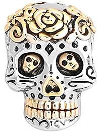 Kustom Factory - Colgante de cráneo del Día de los Muertos para pulsera ...