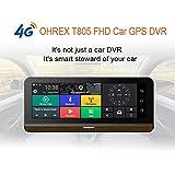 ANDE Central Console Navigator Dual Lens HD Night Electronic Cane 8 Pollici di Guida Registratore Modello Bluetooth, Android Smart Car Navigator