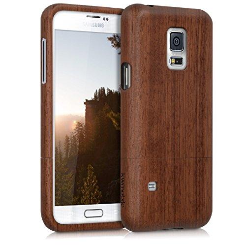 kwmobile Estuche de madera natural para el Samsung Galaxy S5 Mini G800...