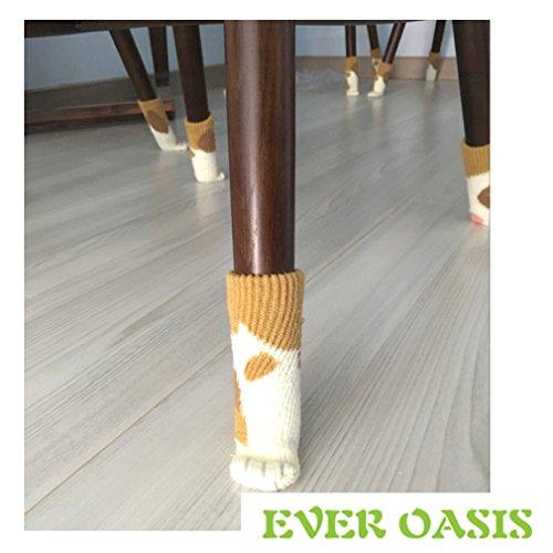 8 Stuhl Socken – Effiziente Boden Savers, dass Schützen Hartholz vor Kratzern und reduzieren Lärm – Das perfekte Geschenk für Katzenliebhaber – Edles Schwarz – Stylische Neuheit für Cozy