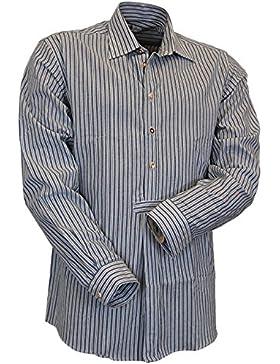 Almsach Streifen Design Regular Fit Hemd August mit Bauchriegel