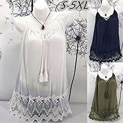 Lace Splice Vest for Women, 2018 est Sexy Camis Sleeveless Blouse Casual Tank Tops T-Shirt Summer Fashion Shirts by GreatestPAK