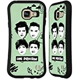 Officiel One Direction Vert Visages Graphiques Groupe Étui Coque Hybride pour Samsung Galaxy A3 (2016)