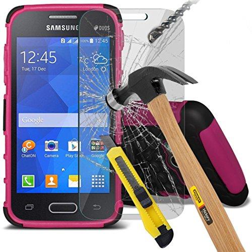 Samsung Galaxy S5 Neo hülle Tasche (Grün + Kopfhörer) Slim-Fit-Abdeckung für Samsung-Galaxie-S5 Neo-hülle Tasche Haltbarer S Linie Wellen-Gel-Kasten-Haut-Abdeckung + mit Aluminium Earbud Kopfhörer, Po Shock + glass (Hot Pink)
