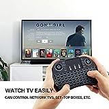 TEKSHOPPING [Layout Italiano] Mini Tastiera Retroilluminata, 2.4Ghz Mini Tastiera Senza Fili Wireless con Touchpad per PC, Pad, Android/Google TV Box, PS3, Xbox 360, HTPC, IPTV