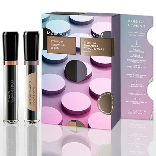 M2 Beaute Eyebrow Set - Renewing Serum + Color & Care Brown Limitierte Edition