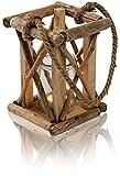 CHICCIE Natur AST Teelichthalter als Laterne - 20cm x 13cm - Kerzenhalter Hängelaterne