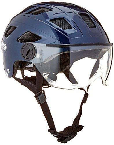 Abus Erwachsene Hyban + Fahrradhelm, Midnight Blue-Clear Visor, M (52-58 cm)