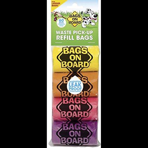 Bags on Board Rainbow Refill Rollen, 60Stück (Refill Count 60)