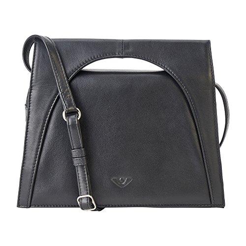 - Kalbsleder-tasche (Voi Damen Kurzgrifftasche Rebecca 21516 aus feinnarbiges Nappa-Kalbsleder in Schwarz)