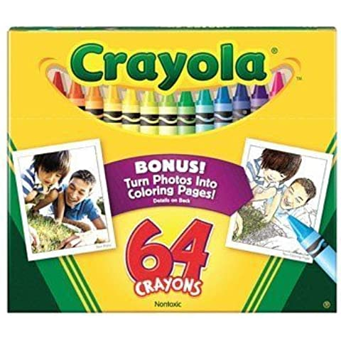 Crayola Crayons Non-Washable 3-5/8 In. X 5/16 In. 64 Colors by Binney & Smith Inc