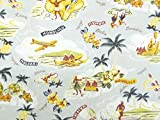 Hawaii Stoff – Hawaii Grau – 0,5 Meter – von