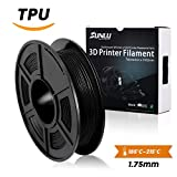 SUNLU 1.75mm Flexible TPU 3D Printing Filament, Dimensional Accuracy +/- 0.02 mm, 0.5KG Spool, 1.75 mm,Black