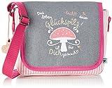 Adelheid Glückspilz m. Spruch Kindergartentasche 13150135528 Mädchen Mädchenhandtasche 20x16x7 cm (B x H x T), Grau (silbergrau 934)