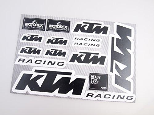 Preisvergleich Produktbild KTM Schwarz Motorrad Abziehbilder Aufkleber Motocross Bike 20x30cm 15pcs auf einem Blatt