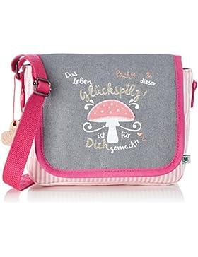 Adelheid Glückspilz m. Spruch Kindergartentasche 13150135528 Mädchen Mädchenhandtasche 20x16x7 cm (B x H x T)