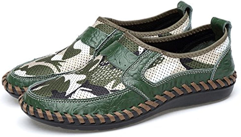 f7fed303a2940 Chaussures D été Décontractées pour pour Décontractées Hommes Chaussures  Maille Plat Respirant Conduite Chaussures en Plein Air Randonnée... 5b4797